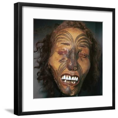 Mummified head of a Maori Chief-Unknown-Framed Giclee Print