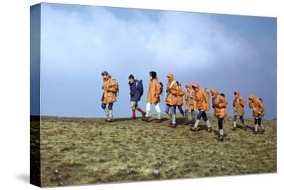 Group of schoolchildren in the Brecon Beacons-Unknown-Stretched Canvas Print