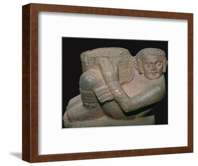Maya Eagle-vase offering bowl for the hearts of sacrificial victims-Unknown-Framed Giclee Print