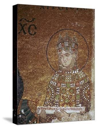 Mosaic of the Byzantine Empress Zoe, 11th century-Unknown-Stretched Canvas Print