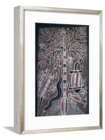 Australian Aborigine bark painting-Unknown-Framed Giclee Print