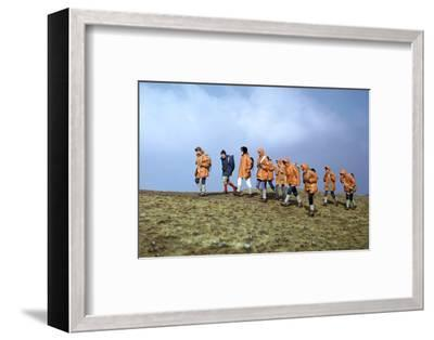 Group of schoolchildren in the Brecon Beacons-Unknown-Framed Photographic Print