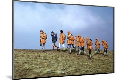 Group of schoolchildren in the Brecon Beacons-Unknown-Mounted Photographic Print