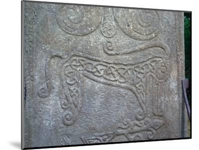 Detail of a Pictish carved stone showing the 'Pictish Beast' symbol, 6th century-Unknown-Mounted Giclee Print