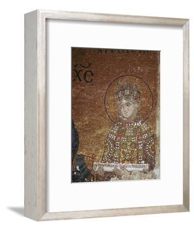 Mosaic of the Byzantine Empress Zoe, 11th century-Unknown-Framed Giclee Print