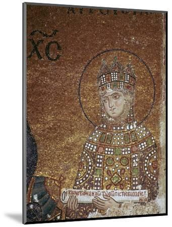 Mosaic of the Byzantine Empress Zoe, 11th century-Unknown-Mounted Giclee Print