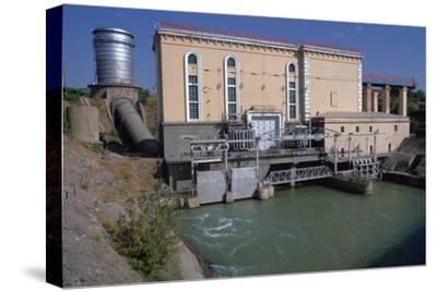 Hydroelectric power station near Tashkent-Unknown-Stretched Canvas Print