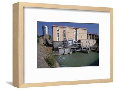 Hydroelectric power station near Tashkent-Unknown-Framed Photographic Print