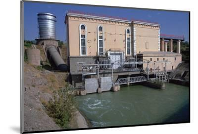 Hydroelectric power station near Tashkent-Unknown-Mounted Photographic Print