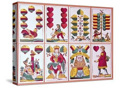 Austrian fortune-telling cards-Unknown-Stretched Canvas Print