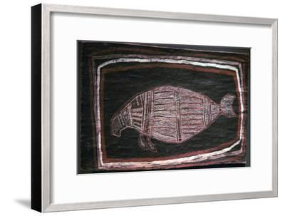 Australian Aboriginal bark-painting of a Dugong-Unknown-Framed Giclee Print