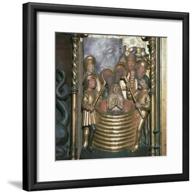 St Margaret being boiled in oil, 16th century-Unknown-Framed Giclee Print