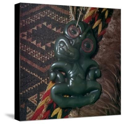 Protective Maori amulet, 19th century-Unknown-Stretched Canvas Print