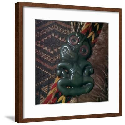 Protective Maori amulet, 19th century-Unknown-Framed Giclee Print
