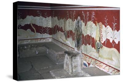 The throne room of the Minoan royal palace at Knossos, c.21st -14th century BC-Unknown-Stretched Canvas Print