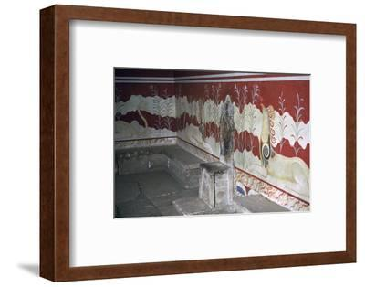 The throne room of the Minoan royal palace at Knossos, c.21st -14th century BC-Unknown-Framed Photographic Print