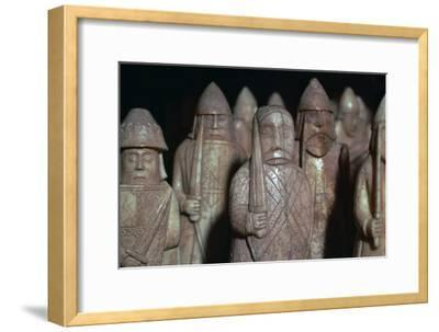 The Lewis Chessmen, (Norwegian?), c1150-c1200-Unknown-Framed Giclee Print