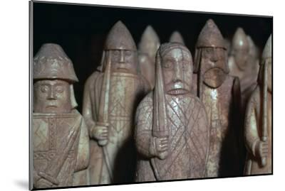 The Lewis Chessmen, (Norwegian?), c1150-c1200-Unknown-Mounted Giclee Print