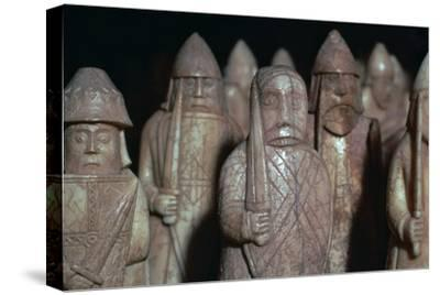 The Lewis Chessmen, (Norwegian?), c1150-c1200-Unknown-Stretched Canvas Print