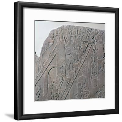 Babylonian depiction of the siege of an Egyptian city, 7th century-Unknown-Framed Giclee Print