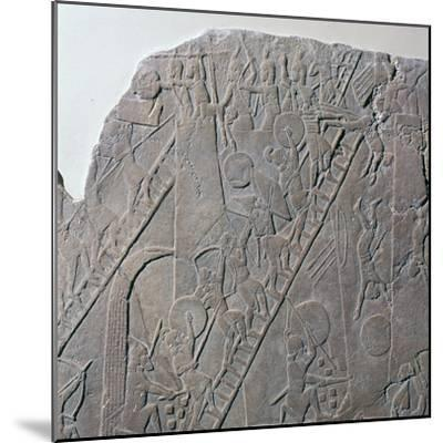 Babylonian depiction of the siege of an Egyptian city, 7th century-Unknown-Mounted Giclee Print