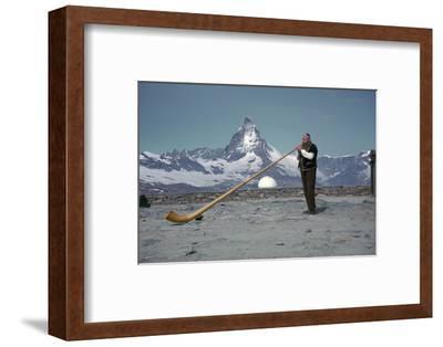 The Alpenhorn at Gonergat-Unknown-Framed Photographic Print