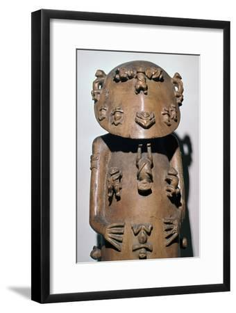 Polynesian statuette of Tangaroa-up-in-the-sky-Unknown-Framed Giclee Print