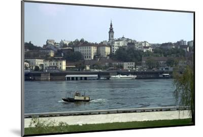 View across the river Sava to the Old Town in Belgrade, 19th century-Unknown-Mounted Photographic Print