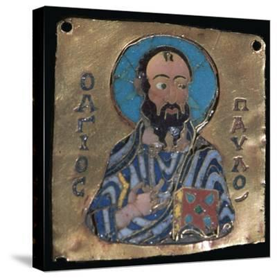 Miniature depiction of St Paul, 10th century-Unknown-Stretched Canvas Print