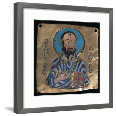 Miniature depiction of St Paul, 10th century-Unknown-Framed Giclee Print