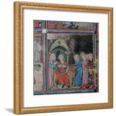 Joseph's brothers showing their father his bloodstained coat, 14th century-Unknown-Framed Giclee Print