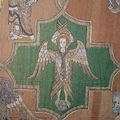 Detail of an angel from the Syon Cope, 14th century-Unknown-Framed Giclee Print