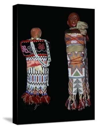 Native American Memomini Dolls-Unknown-Stretched Canvas Print