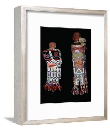 Native American Memomini Dolls-Unknown-Framed Giclee Print