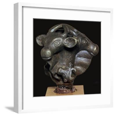 Head of a bronze sceptre-Unknown-Framed Giclee Print