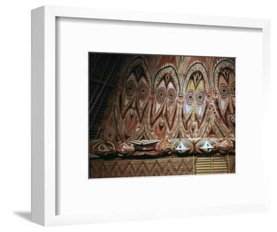 Painted gable-wall of a cult-house from New Guinea-Unknown-Framed Photographic Print