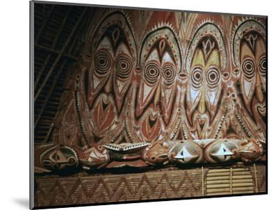 Painted gable-wall of a cult-house from New Guinea-Unknown-Mounted Photographic Print
