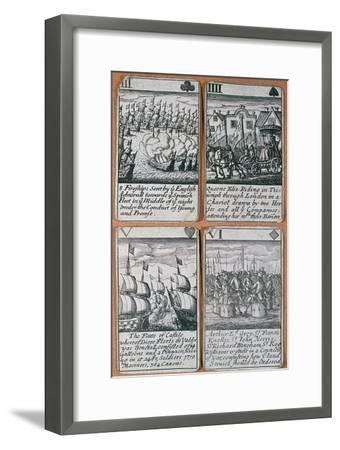 English playing cards commemorating defeat of the Spanish Armada (8 August 1588)-Unknown-Framed Giclee Print