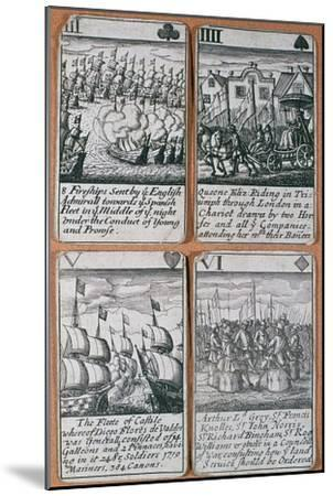 English playing cards commemorating defeat of the Spanish Armada (8 August 1588)-Unknown-Mounted Giclee Print