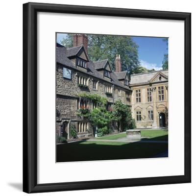 St Edmunds hall in Oxford, 16th century-Unknown-Framed Photographic Print