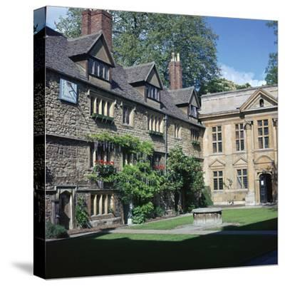 St Edmunds hall in Oxford, 16th century-Unknown-Stretched Canvas Print
