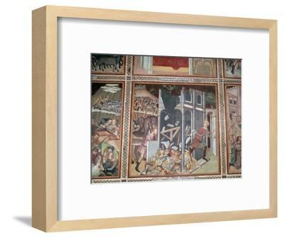 Fresco of the destruction of Jericho, 14th century-Unknown-Framed Giclee Print