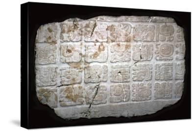 Mayan hieroglyphs on part of a door lintel, 7th century-Unknown-Stretched Canvas Print