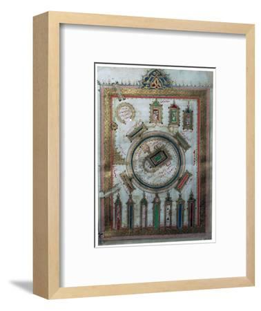 The Great Mosque at Mecca, showing the Karba in the centre-Unknown-Framed Giclee Print