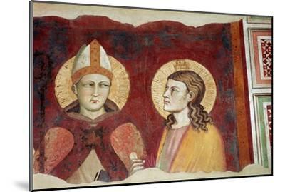 Fresco of a bishop, 14th century-Unknown-Mounted Giclee Print