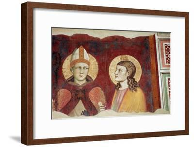Fresco of a bishop, 14th century-Unknown-Framed Giclee Print