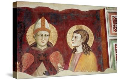 Fresco of a bishop, 14th century-Unknown-Stretched Canvas Print