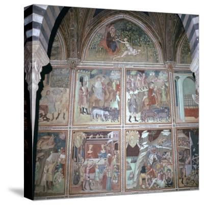 Fresco of Eve and the story of Abraham, 14th century-Unknown-Stretched Canvas Print