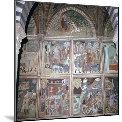 Fresco of Eve and the story of Abraham, 14th century-Unknown-Mounted Giclee Print