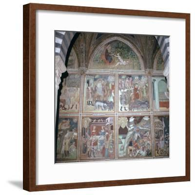 Fresco of Eve and the story of Abraham, 14th century-Unknown-Framed Giclee Print